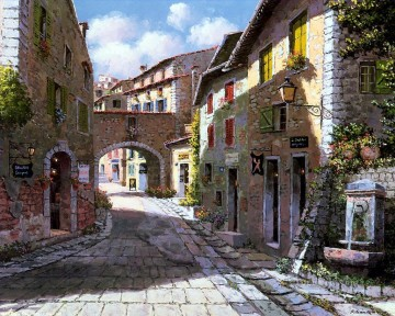 UX003 European Towns Oil Paintings
